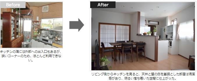 キッチンダイニングリフォーム事例