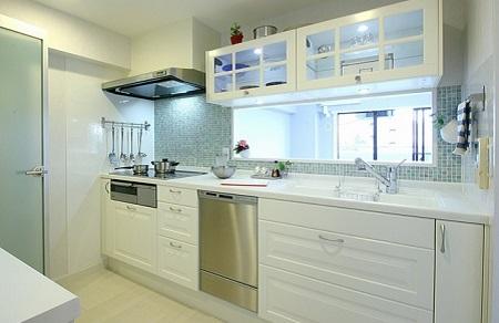 IKEA対面式キッチン事例