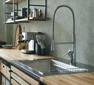 水栓木製キッチン
