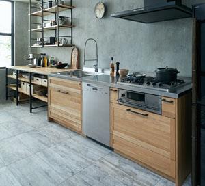 木材ナチュラルキッチン