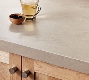 人工大理石ワークトップ木製キッチン
